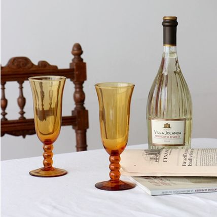 April in May コップ・グラス 韓国雑貨*April in May*Vintage Wine Goblet / ワイングラス(3)