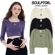 ★SCULPTOR★2020F/W新作★日本未入荷 Soft 34 Sleeve Crop Top