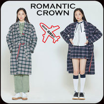 【ROMANTIC CROWN】CLASSIC CHECK WOOL COAT★男女兼用