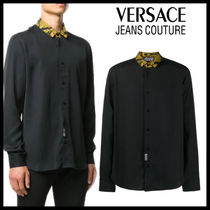【Versace Jeans Couture】バックゴールドバロック柄 長袖シャツ