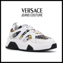【Versace Jeans Couture】パネル ハイカット レザースニーカー