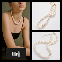【Hei】20fw Classy baroque pearl necklace (gold/white)