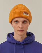 [ ADERERROR ] Layered label beanie Light camel
