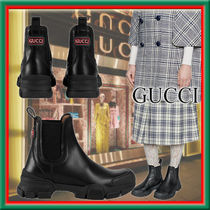★GUCCI★Stivaletto donna in pelle シンプルで合わせやすい♪