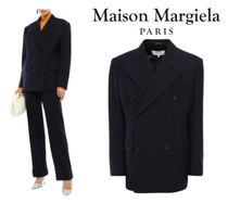 Maison Margiela☆Double-breasted wool-gabardine jacket