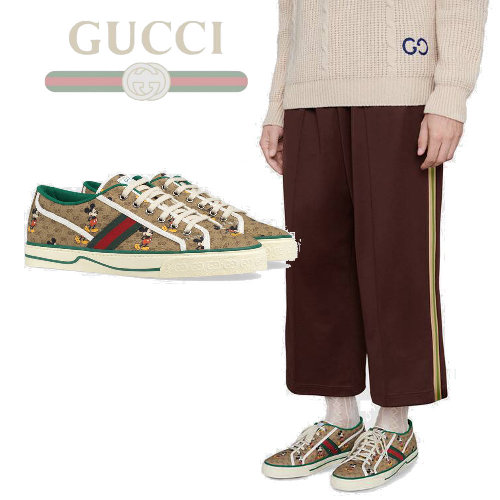 【GUCCI】ディズニーxグッチ Tennis 1977 sneaker with Web (GUCCI/スニーカー)  606111H0T108530