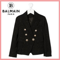 ☆送料関税込☆BALMAIN 大人もOK☆BLACK DOUBLE-BREASTED JACKET