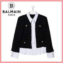 ☆送料関税込☆BALMAIN 大人もOK☆WHITE&BLACK KID SHIRT JACKET