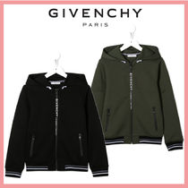 ☆送料関税込☆最新 GIVENCHY BLACK KID HOODIE WITH LOGOED ZIP