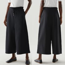 """COS"" ORGANIC COTTON WIDE-LEG JOGGERK BLACK"