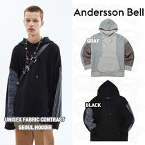 ★ANDERSSON BELL★UNISEX FABRIC CONTRAST SEOUL HOODIE