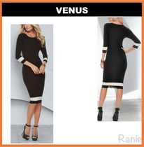 【VENUS】Color Block Sweater Dress◆タイトドレス
