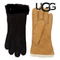 【SALE】UGG FEMME★UGG Shearling-Cuff Sheepskin Gloves 手袋