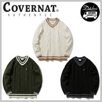 COVERNAT CABLE KNIT V NECK YJ561 追跡付