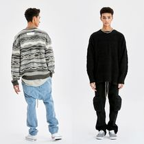 ATTENTIONROW ☆ SOFT TOUCH MULTI PATTERN OVER-FIT KNIT