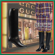★GUCCI★Stivale in pelle con Doppia G 洗練されたデザイン♪