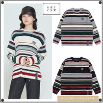 ROMANTIC CROWNのSTRIPED RIBBED KNITWEAR 全3色