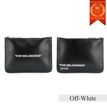 ◆Off-White◆「FOR BELONGINGS」レザークラッチバッグ