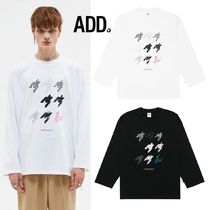 ★ADD SEOUL★HOUNDSTOOTH STAMP LONG SLEEVE TEE 2色