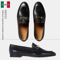 GUCCI(グッチ) ローファー・オックスフォード Gucci JORDAAN SMOOTH LEATHER LOAFERS