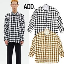 ★ADD SEOUL★HOUNDSTOOTH BATWING SHIRT 2色