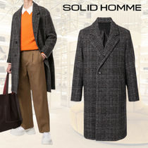 【20AW】★SOLID HOMME★チェック シングルコート