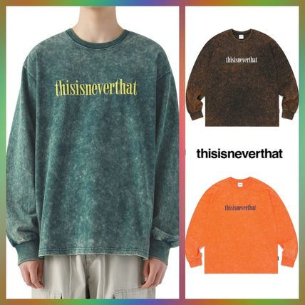 thisisneverthat Tシャツ・カットソー 【thisisneverthat】NiziU☆リマ着用 Acid washed L/SL Top 3色