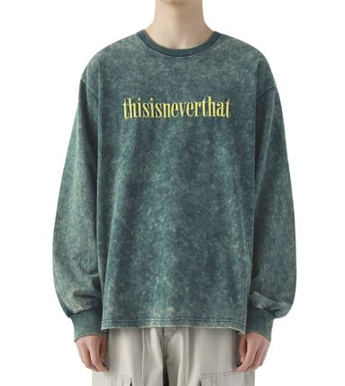 thisisneverthat Tシャツ・カットソー 【thisisneverthat】NiziU☆リマ着用 Acid washed L/SL Top 3色(4)