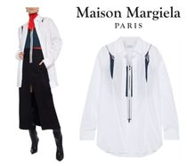 Maison Margiela☆Layered cutout cotton-poplin&stretch-knit
