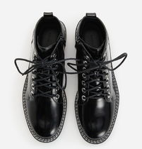 """""""RESERVED"""" LACE UP BOOTS BLACK"""