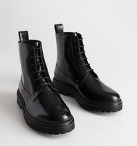 """""""& Other Stories"""" Lace-Up Leather Boots Black"""