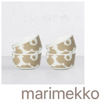 Marimekko★UNIKKO BOWL | BEIGE + WHITE SET OF 4 ボウルセット
