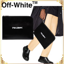 OFF-WHITE◆関税送料込プリント クラッチバッグ