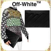 OFF-WHITE◆関税送料込パネル クラッチバッグ
