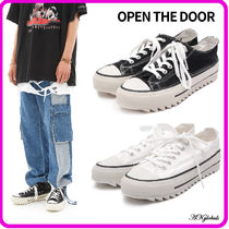 [OPEN THE DOOR] add platform low canvas shoes (2color)