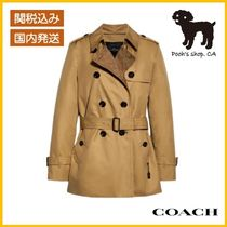 【COACH】Signature Lapel Short Trench◆国内発送◆