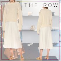 【THE ROW】Cristina cotton and cashmere sweater 473497