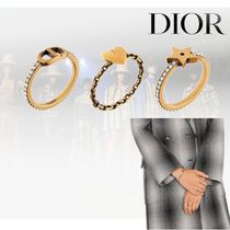 20AW【Dior】LUCKY CD リングセット メタル&クリスタル