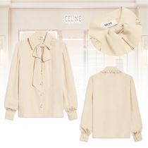 ★20 Winter★新作★CELINE★LARGE SANDED BOW BLOUSE ブラウス