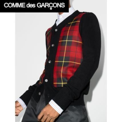 【COMME des GARCONS】Shirt チェック ウール カーディガン