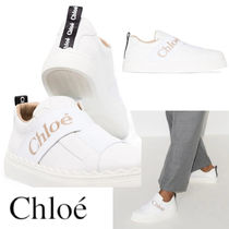 CHLOE LAUREN LEATHER SNEAKERS WITH STRAP