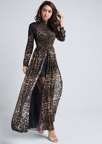 国内発 関税無★Venus★Animal Print Lace Dress