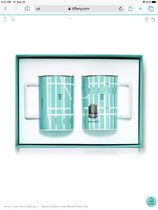 ★日本未入荷★【Tiffany&Co.】Manhattan Map Mug Set