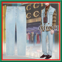 ★GUCCI★Jeans regular effetto delave ストレートレッグ♪