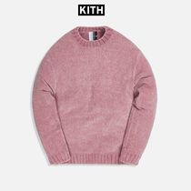 ☆KITH MEYER CHENILLE CREWNECK PALE MAUVE 国内発送 正規品!