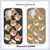 【MAISON KITSUNE】3D ALL OVER FOX HEAD iPhone11/11PRO対応
