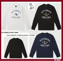 OCTOBERS VERY OWN(オクトーバーズ ベリー オウン) Tシャツ・カットソー ☆OVO☆ ロゴ入り長袖T♪  Collegiate Long sleeve T-shirt★