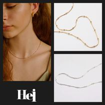 【Hei】20fw italy dot chain ネックレス (gold/white)