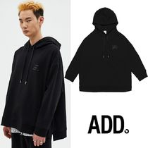 ★ADD SEOUL★EMBLEM SIDE SLIT HOODIE BLACK