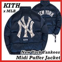 Kith MLB New York Yankees Midi Puffer Jacket Navy FW 20